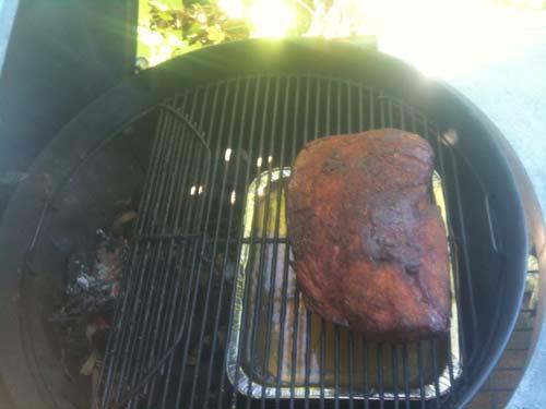 Pulled pork efter 5 timer
